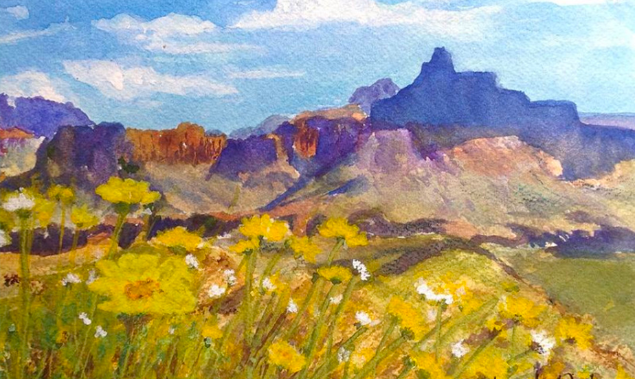 Arizona Mountain Spring Painting