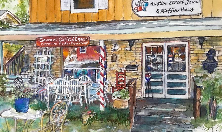 Java and Muffin Haus Painting